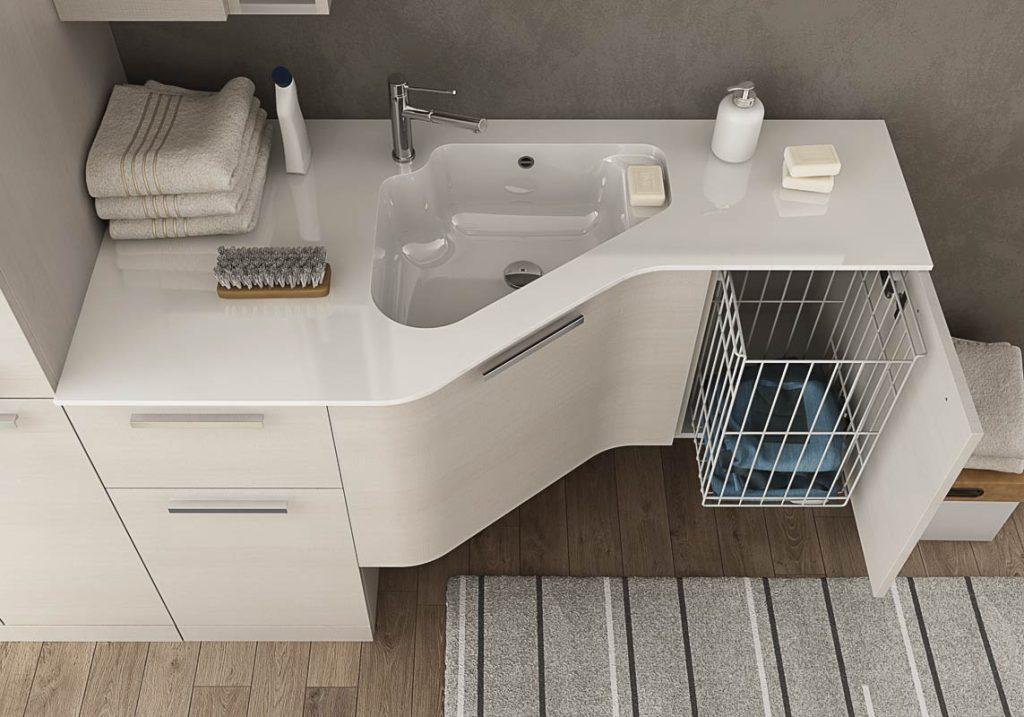 Mobili da bagno moderni collezione urban lavanderia for Lavaderos modernos para ropa